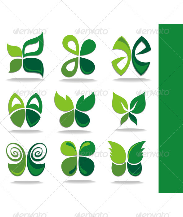 GraphicRiver Eco Icon Green Leaves 7157056
