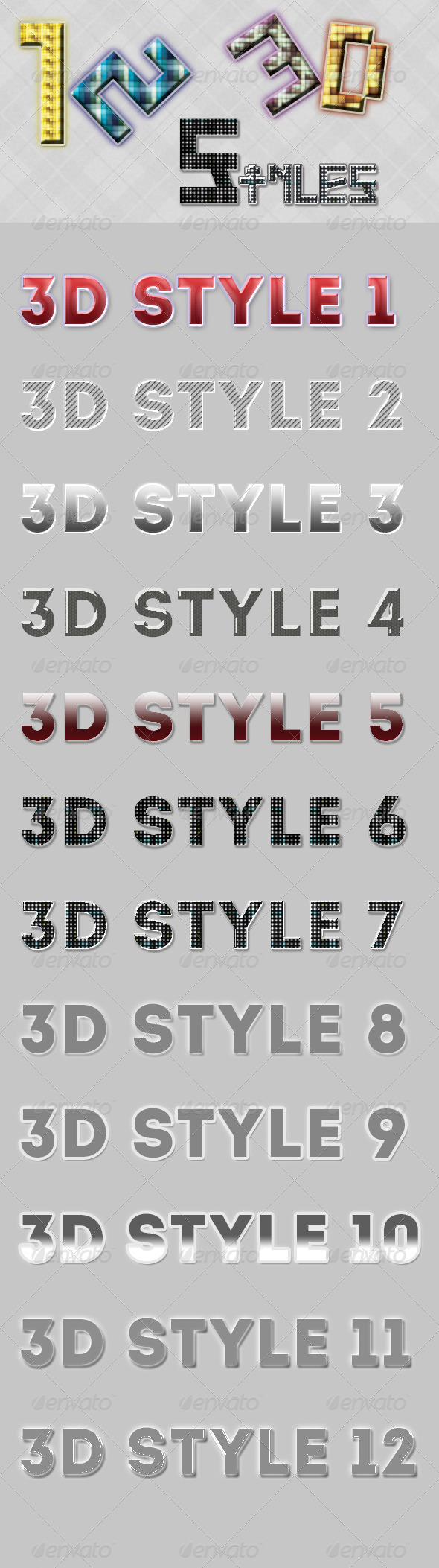 GraphicRiver 12 3D Style 7157110
