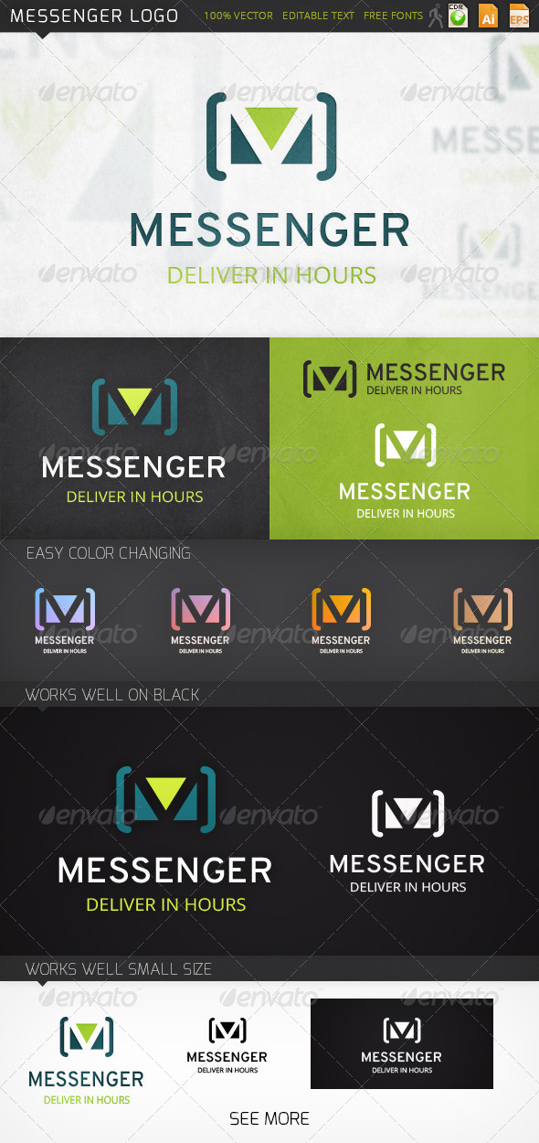 GraphicRiver Messenger Logo 7157188