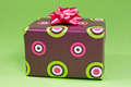Gift Box On The Green Background  - PhotoDune Item for Sale