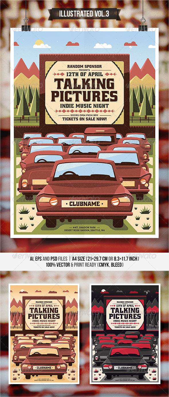 Illustrated Vol.3 - Flyer & Poster - Concerts Events