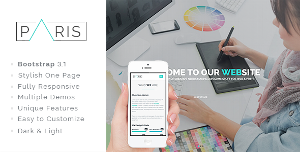 PARIS - Responsive HTML5 OnePage Template