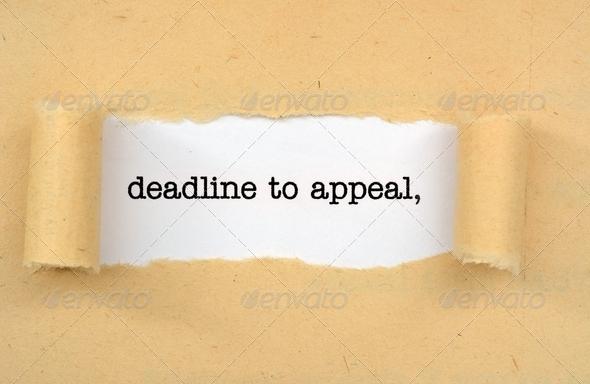 Deadline to appeal
