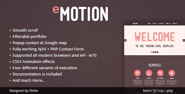 EMotion HTML Template