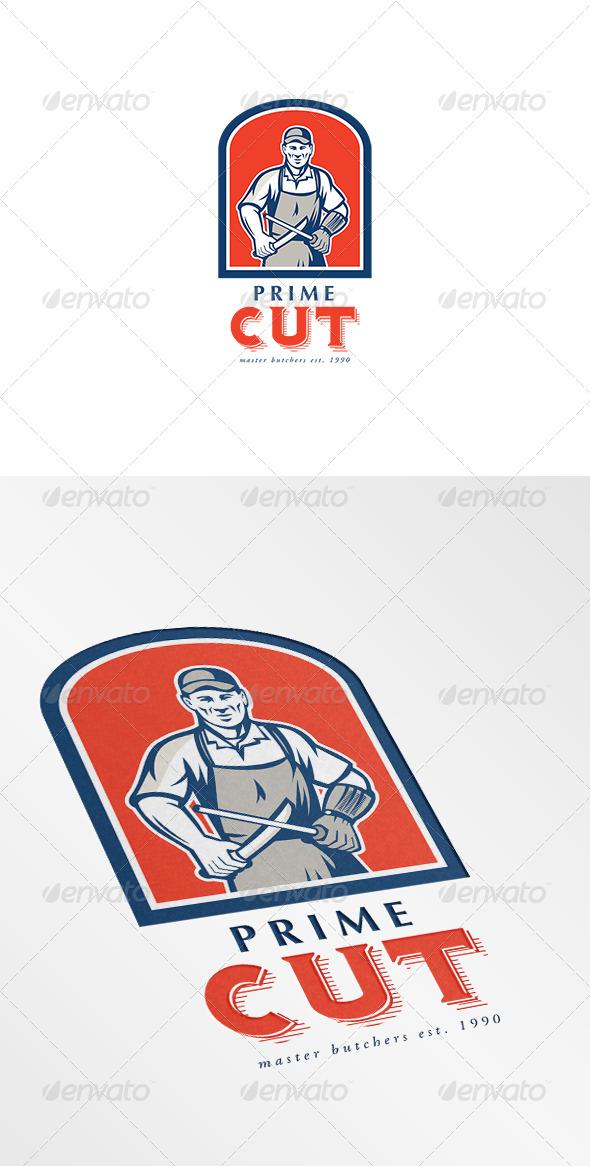 GraphicRiver Prime Cut Master Butchers Logo 7157807