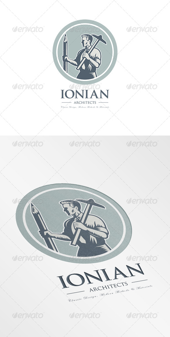 GraphicRiver Ionian Architect Draftsman Logo 7157833