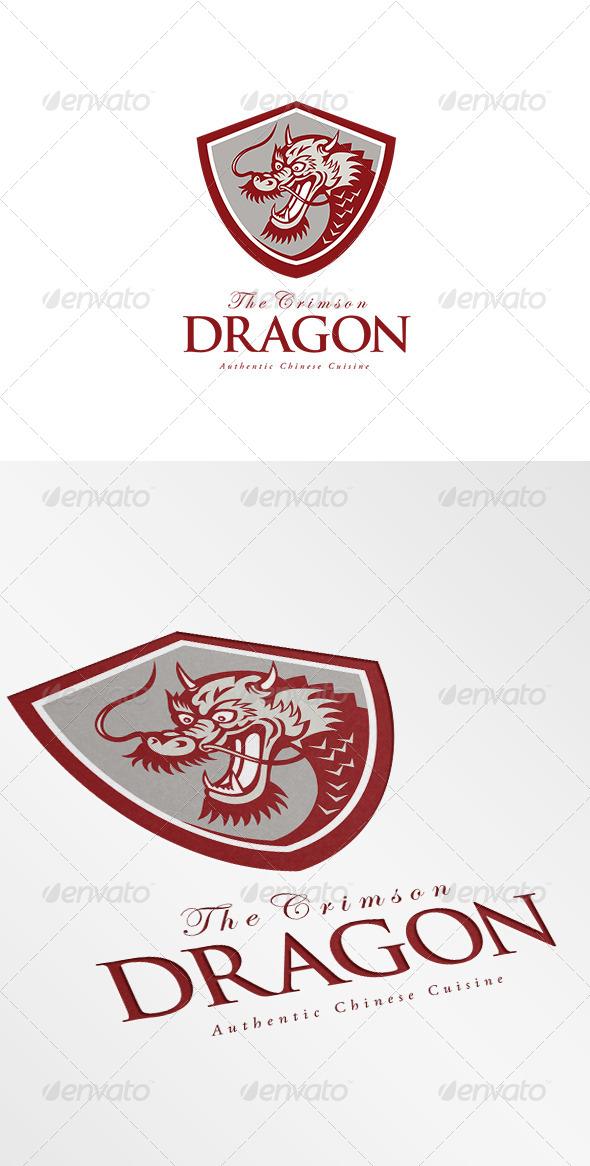GraphicRiver The Crimson Dragon Chinese Cuisine Logo 7157898