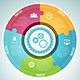 Circle Puzzle Infographic Elements Set