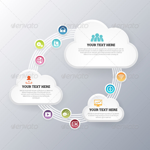 GraphicRiver Cloud Network Exchange 7157905