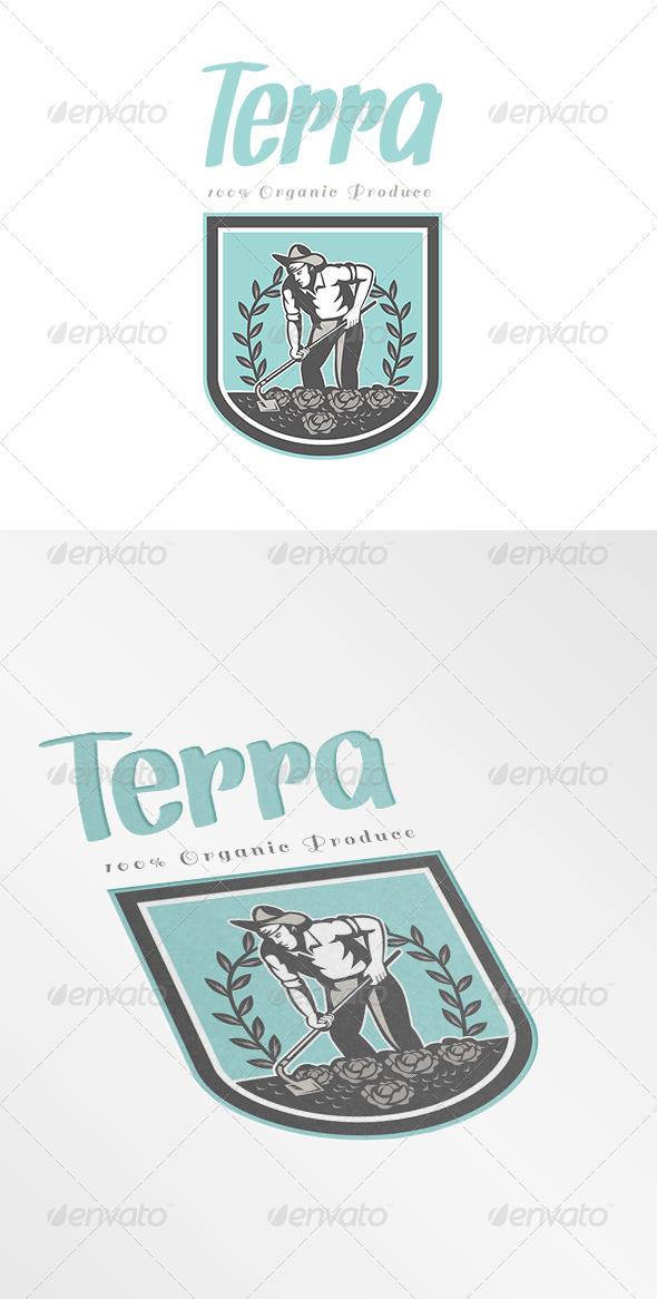 GraphicRiver Terra Organic Produce Logo 7157916