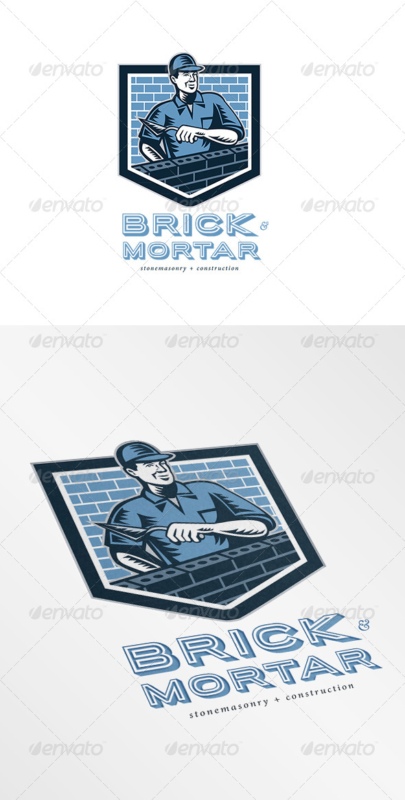 GraphicRiver Brick and Mortar Stone Masonry and Construction Lo 7158038
