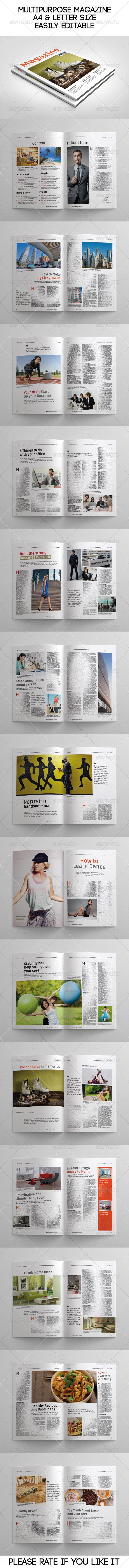 GraphicRiver Multipurpose Magazine 7158091