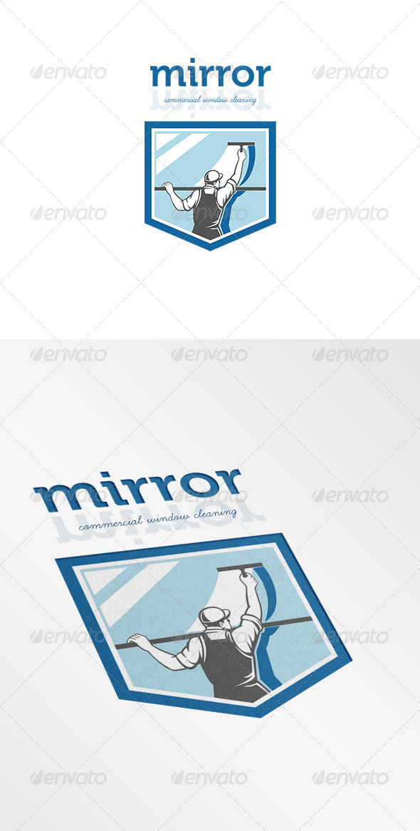 GraphicRiver Mirror Commercial Window Cleaning Logo 7158183