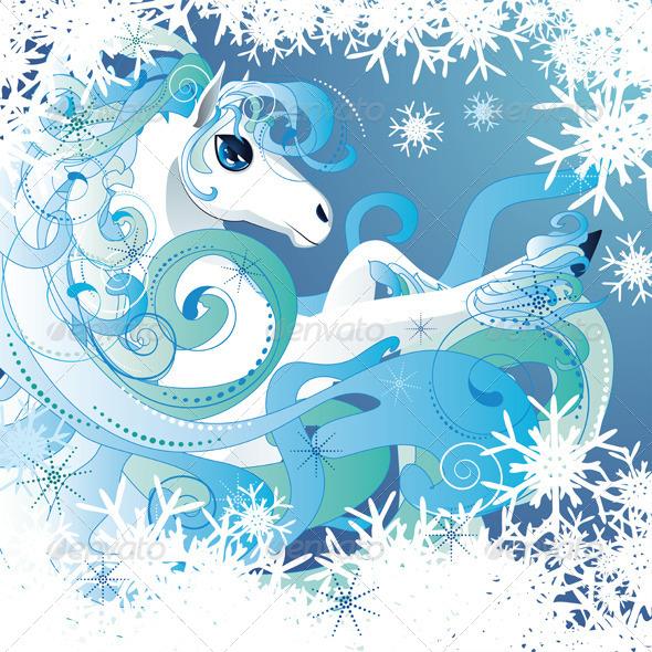 GraphicRiver Winter Horse 7146753