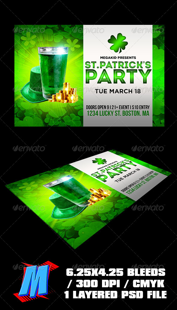 GraphicRiver St Patricks Party Flyer Template 7158324