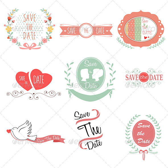 GraphicRiver Save the Date for Wedding 7158329