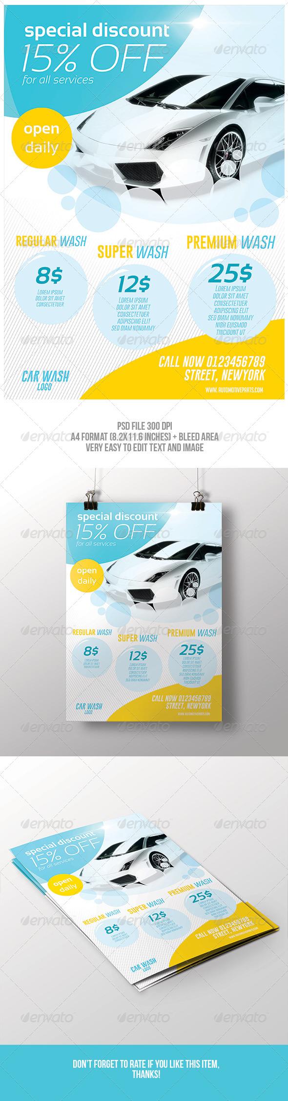 GraphicRiver Car Wash Flyer 7158335
