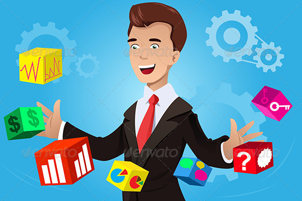 GraphicRiver Businessman Having an Idea Concept 7158349