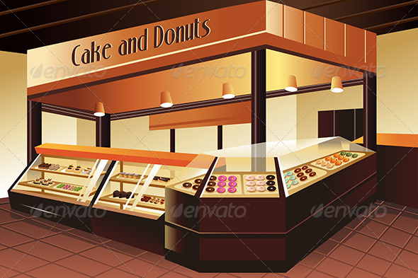 GraphicRiver Grocery Store Cake and Donuts Section 7158379