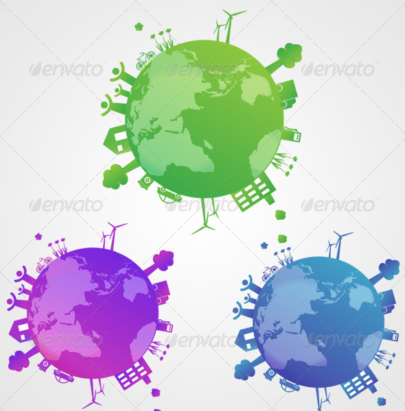 GraphicRiver 3 Color Globes 7145795