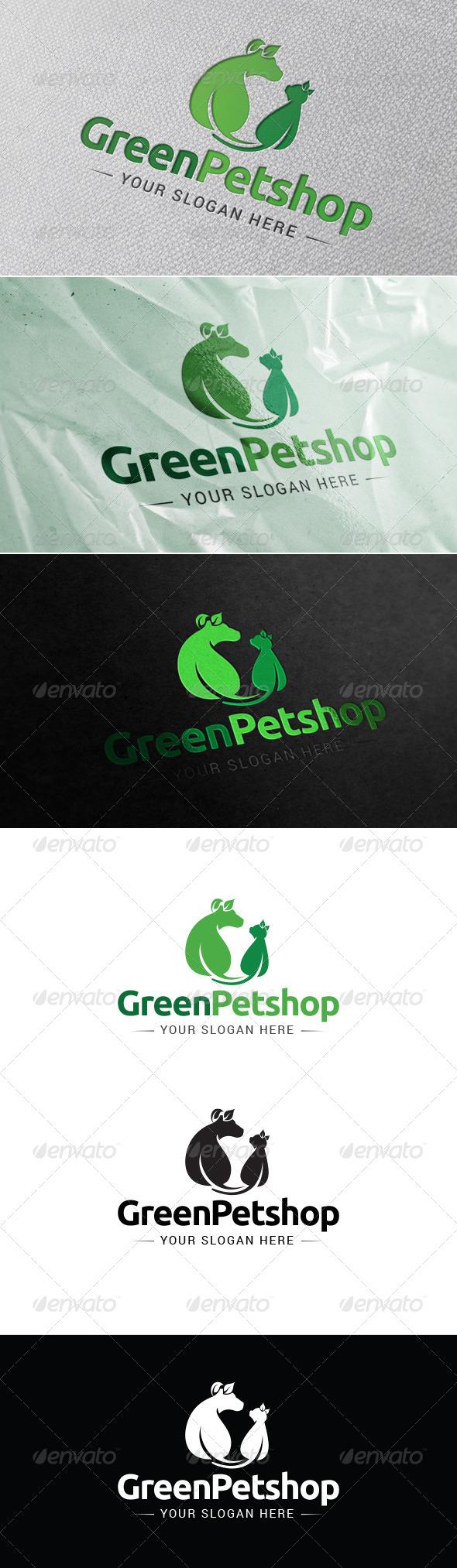 GraphicRiver Green Petshop Logo Template 7158459