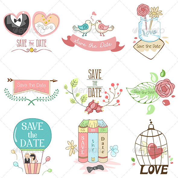 GraphicRiver Save the Date for Wedding 7158786