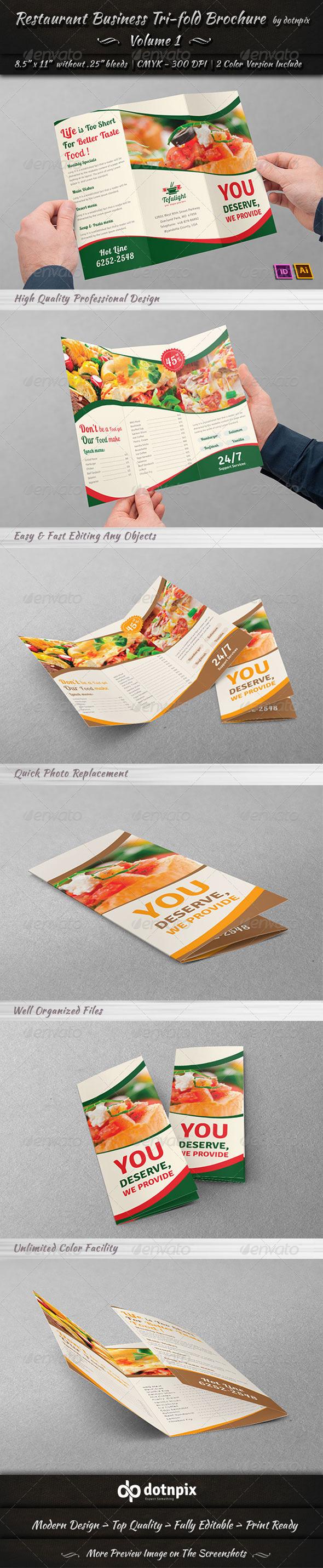 GraphicRiver Restaurant Business Tri-Fold Brochure Volume 1 7158955