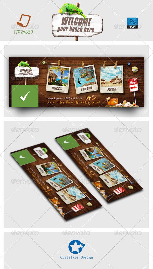 GraphicRiver Travel Tours Face Timeline Templates 7159154