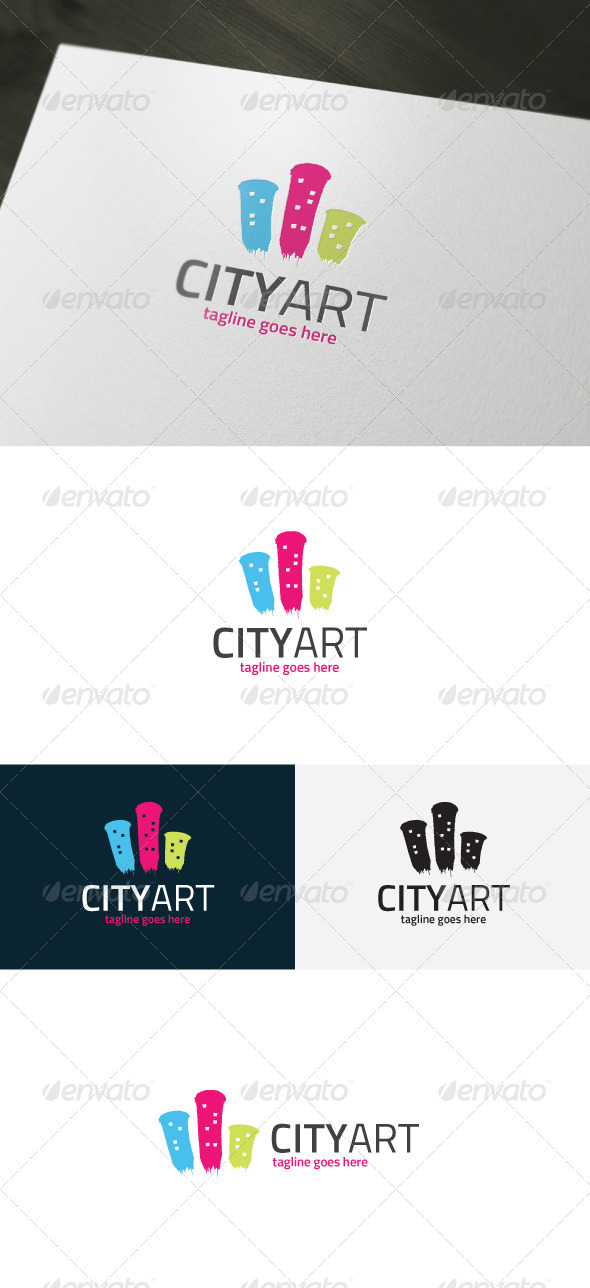 GraphicRiver City Art Logo 7145745