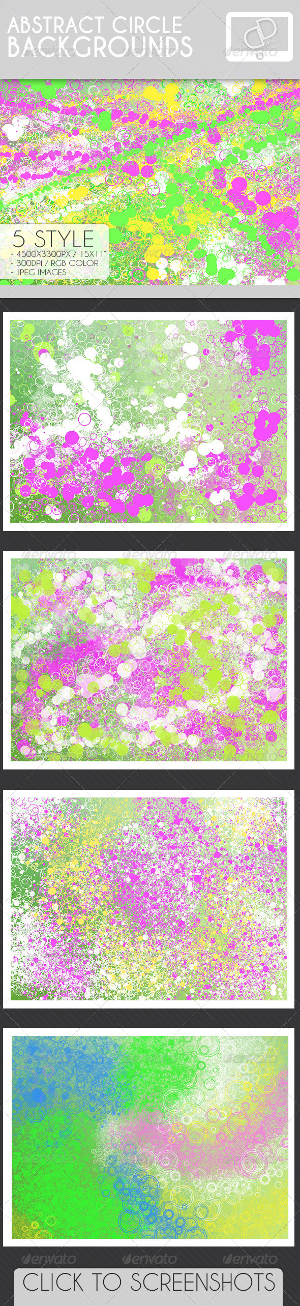 GraphicRiver Abstract Circle Backgrounds 7159155