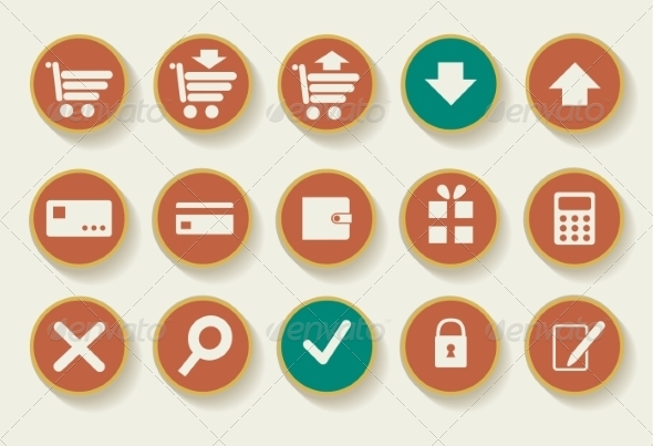 GraphicRiver Set of Shopping Icons 7159224