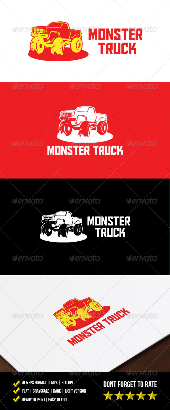 GraphicRiver Monster Truck Logo 7159523
