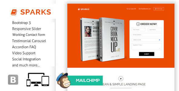 Sparks - Responsive Bootstrap Landing Page - Landing Pages Marketing
