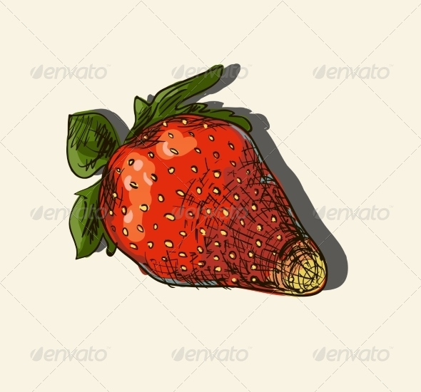 GraphicRiver Illustration of Strawberry 7159707