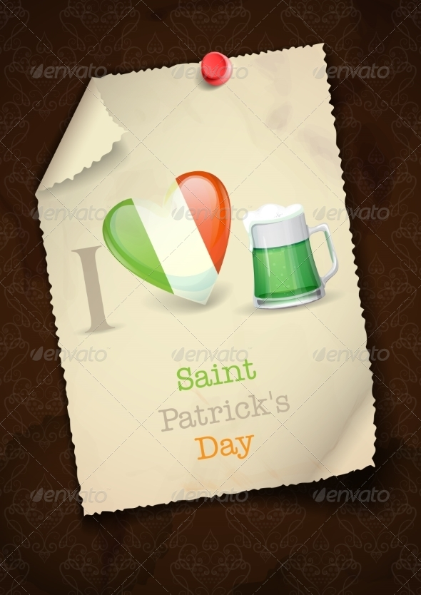 GraphicRiver St Patrick s Day I Love Beer 7159744