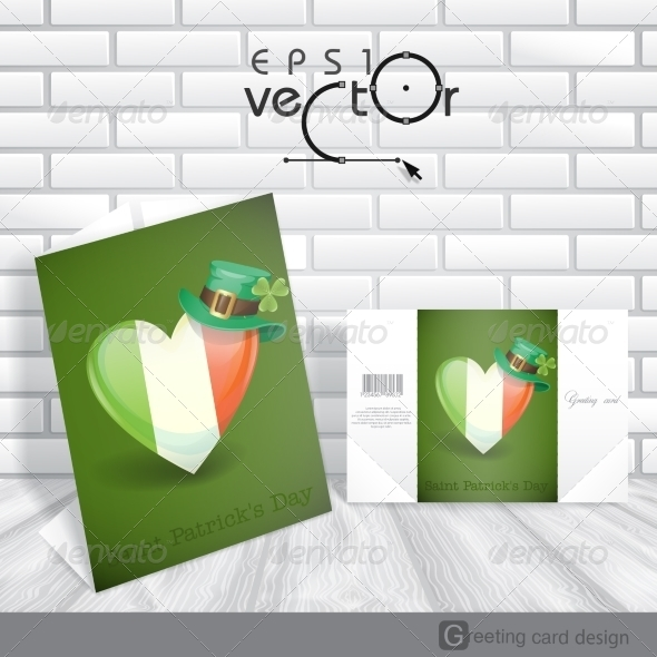 GraphicRiver Patrick s Day Irish Flag in the Shape of a Heart 7159746