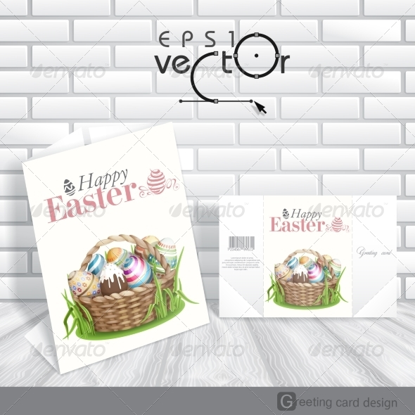 GraphicRiver Easter Background with a Basket 7159768