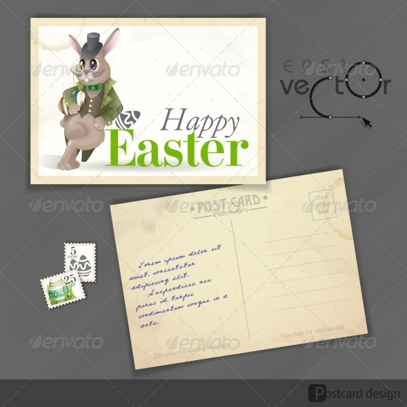 GraphicRiver Easter Background with Bunny 7159775