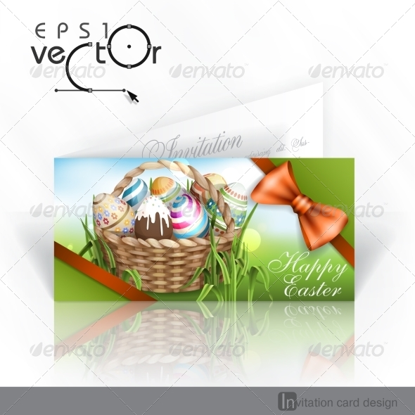 GraphicRiver Easter Background with a Basket 7159779