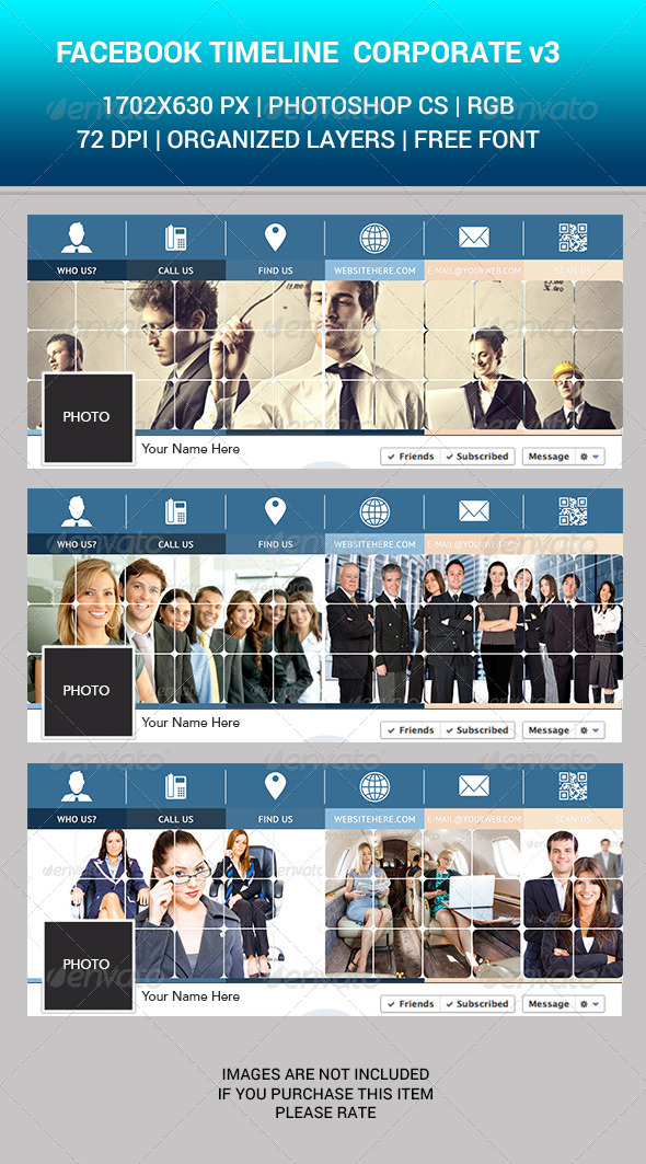 GraphicRiver Facebook Timeline Corporate v3 7160103