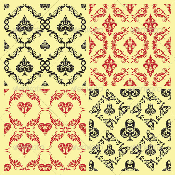 GraphicRiver Pattern Playing Card Ornamental 7160435