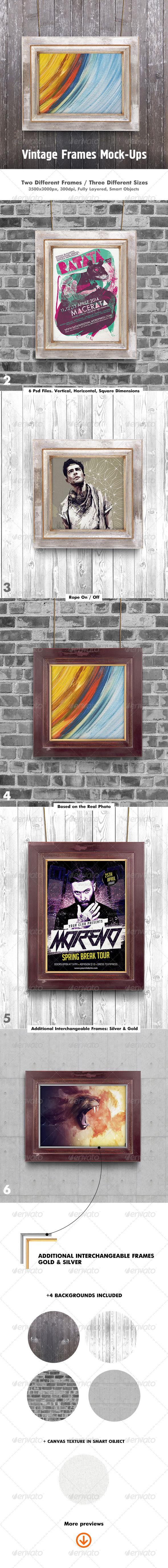 GraphicRiver Poster Frame Mock-Up 7160487
