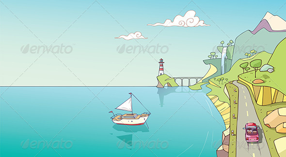 GraphicRiver Coastline 7160628