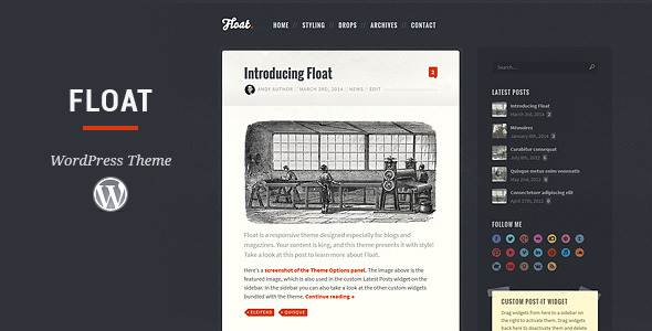 Float - Responsive Blog Theme
