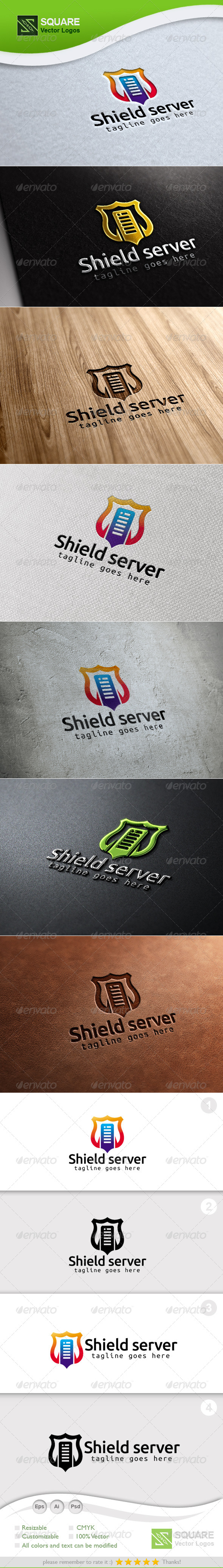 Shield, Server Vector Logo Template - Symbols Logo Templates