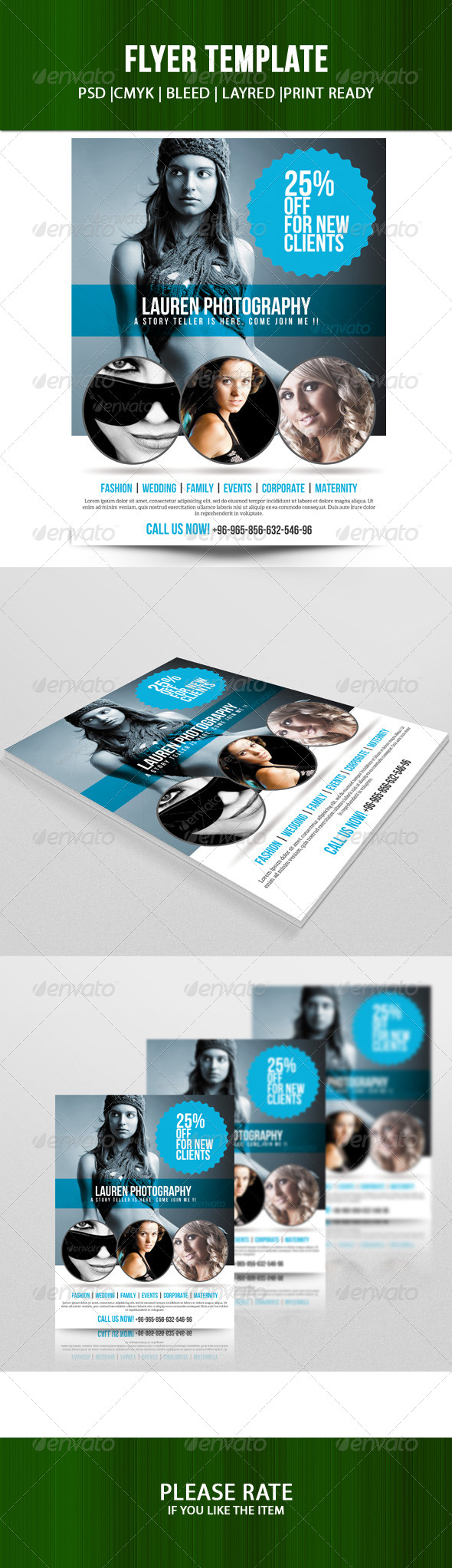 GraphicRiver Photography Flyer Template 7161108