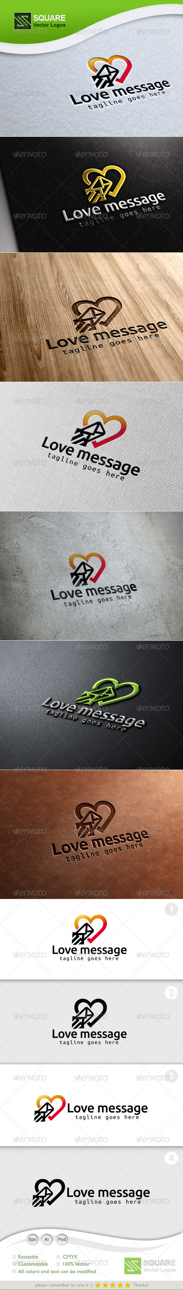 GraphicRiver Love Message Vector Logo Template 7161116
