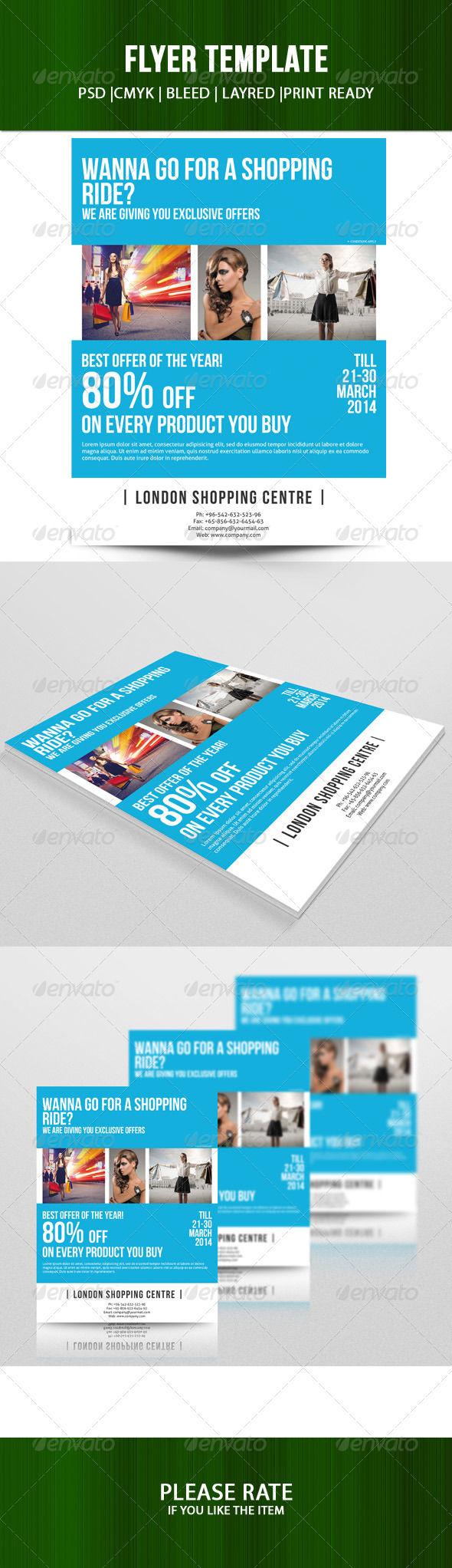 GraphicRiver Corporate Flyer Template 7161119
