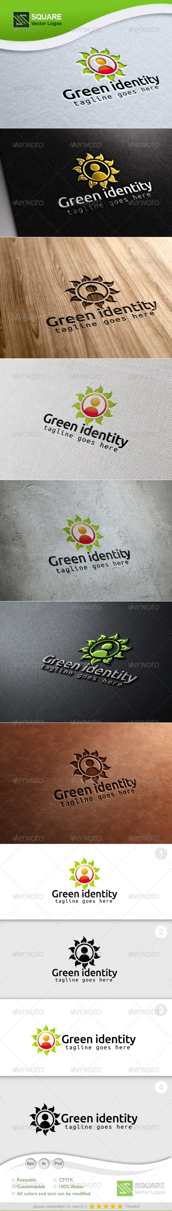 GraphicRiver Leafs Human Vector Logo Template 7161144