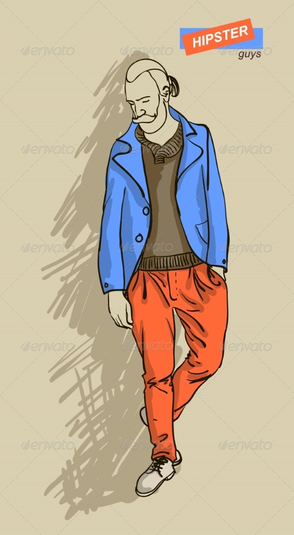 GraphicRiver Hipster Man in Fashion 7161269